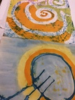 BATIK works in progress by students - at KOZO Studio Workshops in Grennan Mill with Tunde Toth Artist